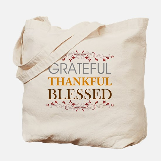 Cute Thankful Tote Bag