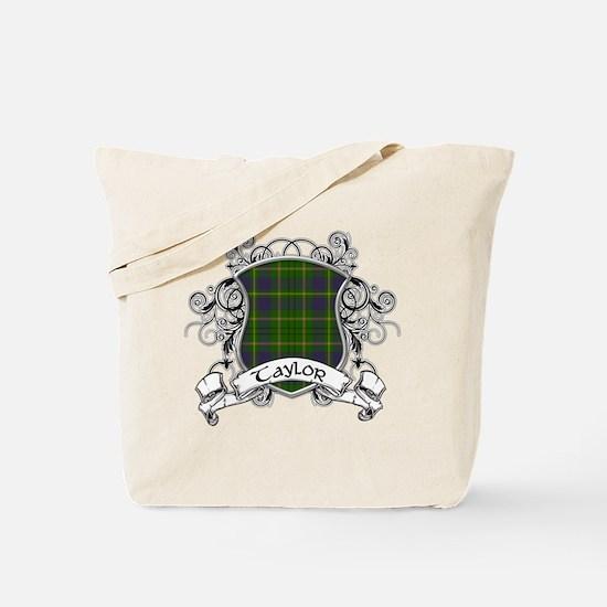 Taylor Tartan Shield Tote Bag