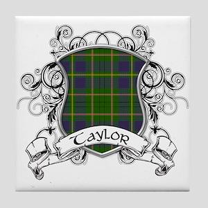 Taylor Tartan Shield Tile Coaster