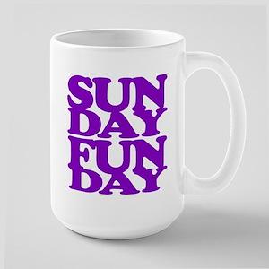 Sunday Funday Purple Mugs