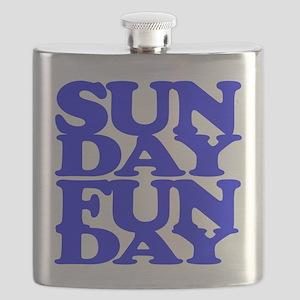 Sunday Funday Blue Flask