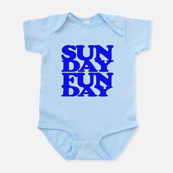 Sunday Funday Blue Body Suit