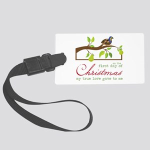 First Day Of Christmas Luggage Tag