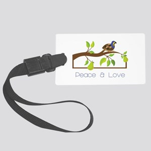 Pease A Love Luggage Tag