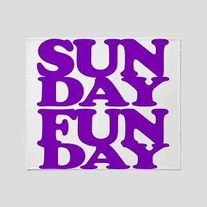 Sunday Funday Purple Throw Blanket