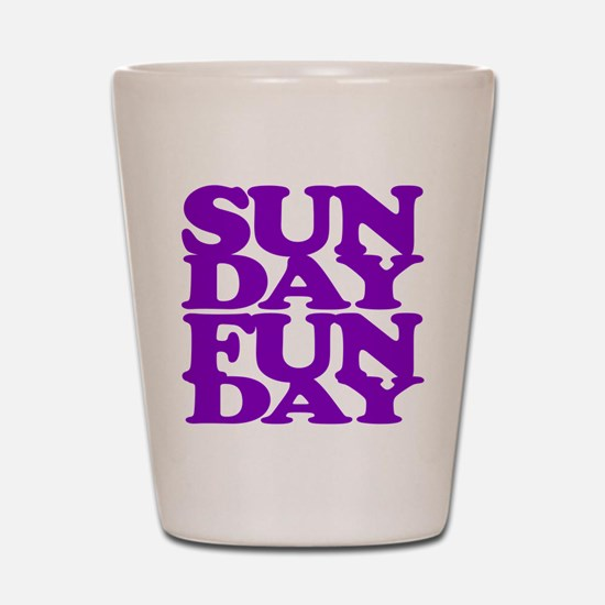 Sunday Funday Purple Shot Glass