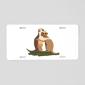 Meerkat Couple Aluminum License Plate