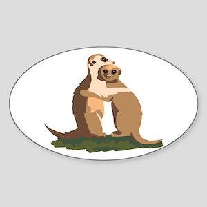 Meerkat Couple Sticker