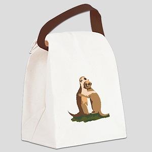 Meerkat Couple Canvas Lunch Bag