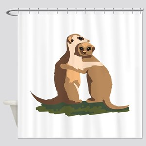 Meerkat Couple Shower Curtain