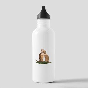 Meerkat Couple Water Bottle
