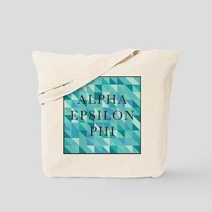 Alpha Epsilon Phi Geometric Tote Bag