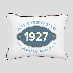 1927 Birth Year Birthday Rectangular Canvas Pillow
