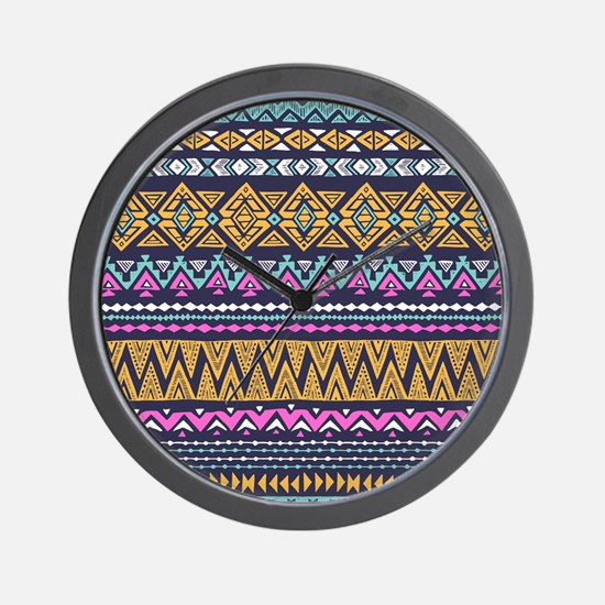 Tribal Pattern Wall Clock