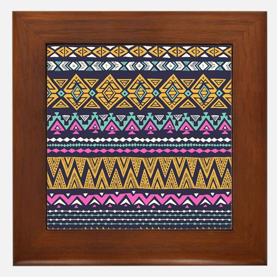 Tribal Pattern Framed Tile