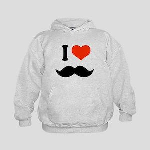 I love mustache Kids Hoodie