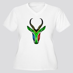 Springbok Flag 2 Plus Size T-Shirt