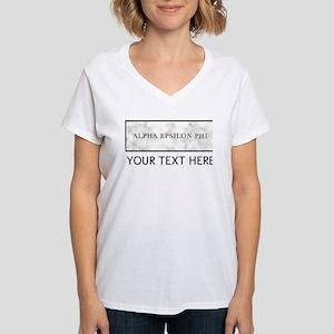 Alpha Epsilon Phi Marble Pe Women's V-Neck T-Shirt
