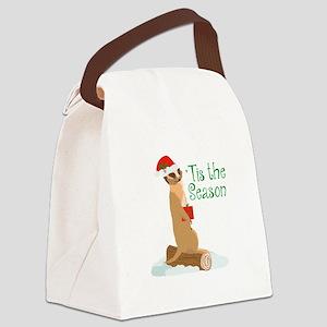 Tis The Season Canvas Lunch Bag