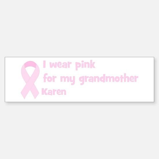 Grandmother Karen (wear pink) Bumper Car Car Sticker
