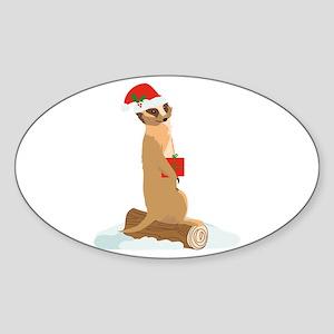 Christmas Meerkat Sticker