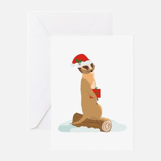 Christmas Meerkat Greeting Cards