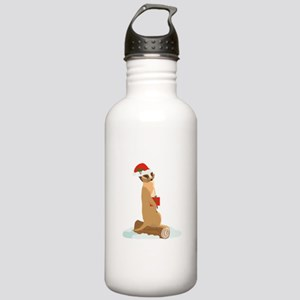 Christmas Meerkat Water Bottle