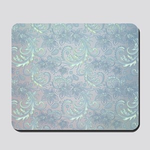Blue Flourish Mousepad