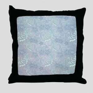 Blue Flourish Throw Pillow