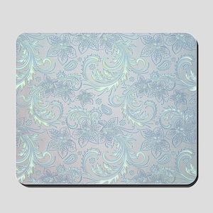 Blue Flourish Mousepad