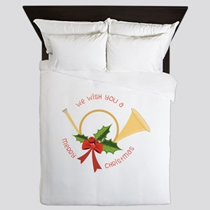 We Wish You A Merry Christmas Queen Duvet