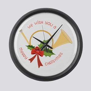 We Wish You A Merry Christmas Large Wall Clock