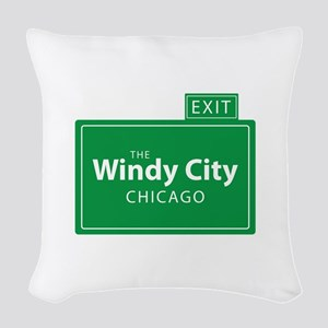 The Windy City Chicago Woven Throw Pillow