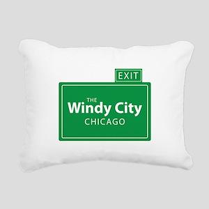 The Windy City Chicago Rectangular Canvas Pillow