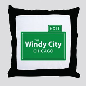 The Windy City Chicago Throw Pillow