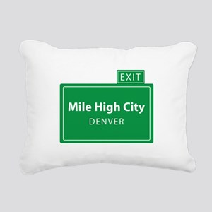 Mile High City Denver Rectangular Canvas Pillow