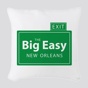 The Big Easy New Orleans Woven Throw Pillow