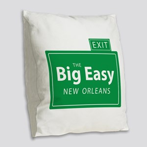 The Big Easy New Orleans Burlap Throw Pillow