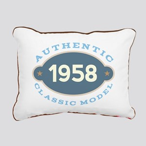 1958 Birth Year Birthday Rectangular Canvas Pillow