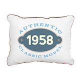 1958 Rectangle Canvas Pillows