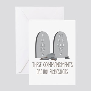 These Commandments One Not Suggestions Greeting Ca