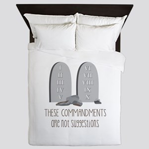 These Commandments One Not Suggestions Queen Duvet