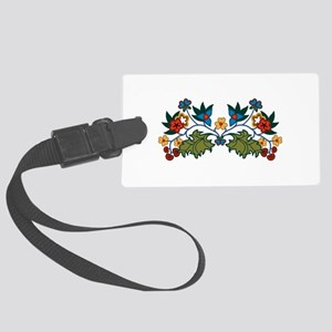 Floral Decoration Luggage Tag