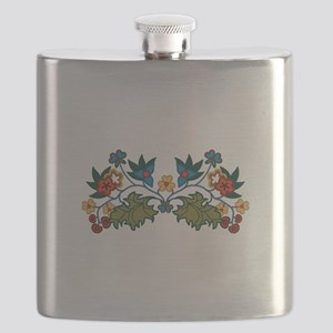 Floral Decoration Flask