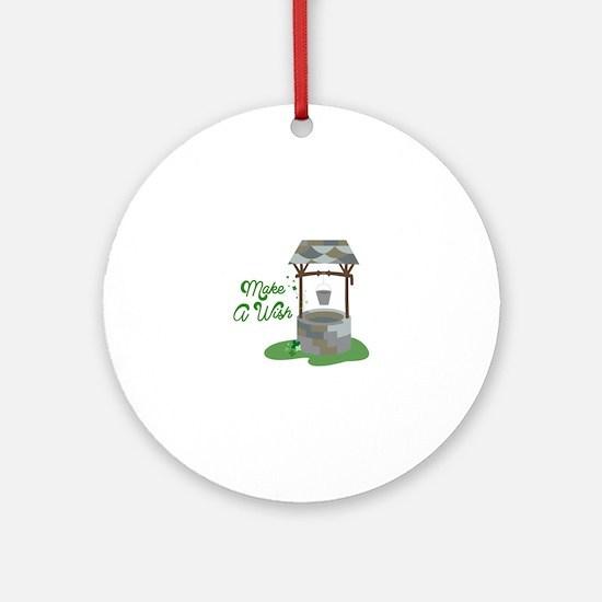 Make A Wish Ornament (Round)