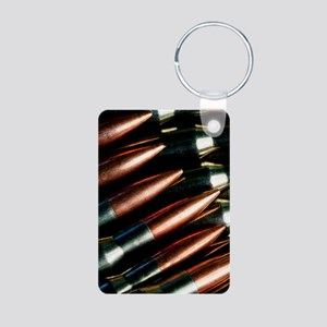 Rifle Bullets Aluminum Photo Keychain