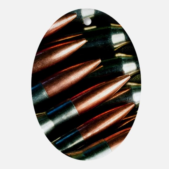 Rifle Bullets Oval Ornament