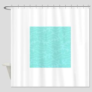 Coral Reef Blue Seaweed Shower Curtain