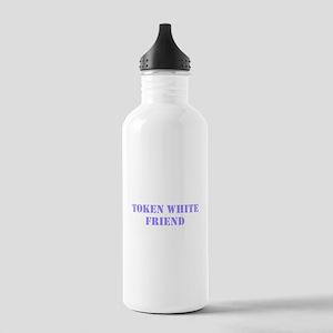 Token White Friend purple Water Bottle