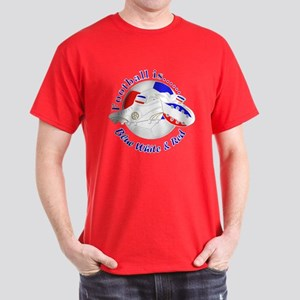Football Is Blue White And Red Dark T-Shirt